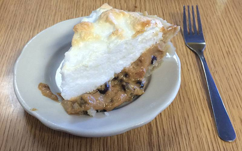 Sour cream and raisin pie at Nelson's Landing