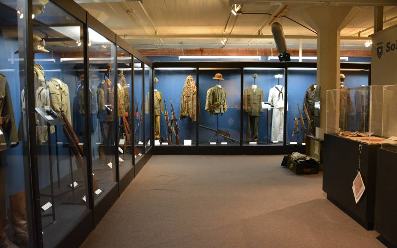 World War II displays at the Museum of World Treasures