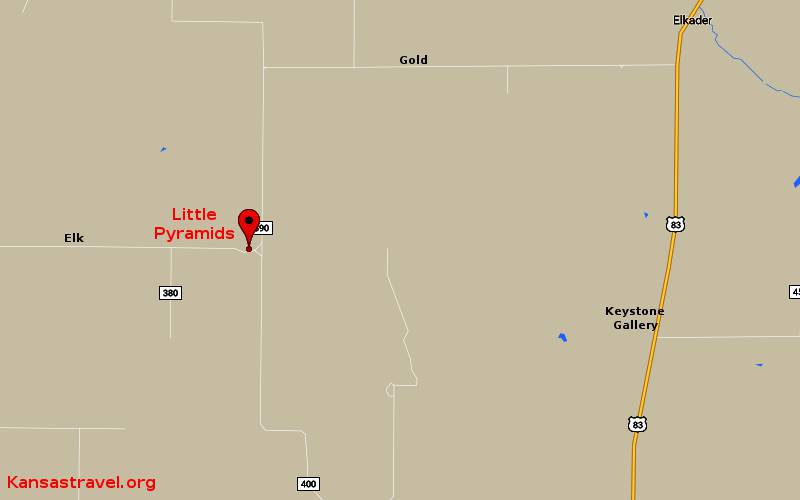 Little Pyramids Map - Logan County, Kansas