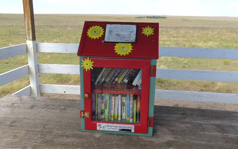 Little Free Library at Mount Sunflower in Kansas