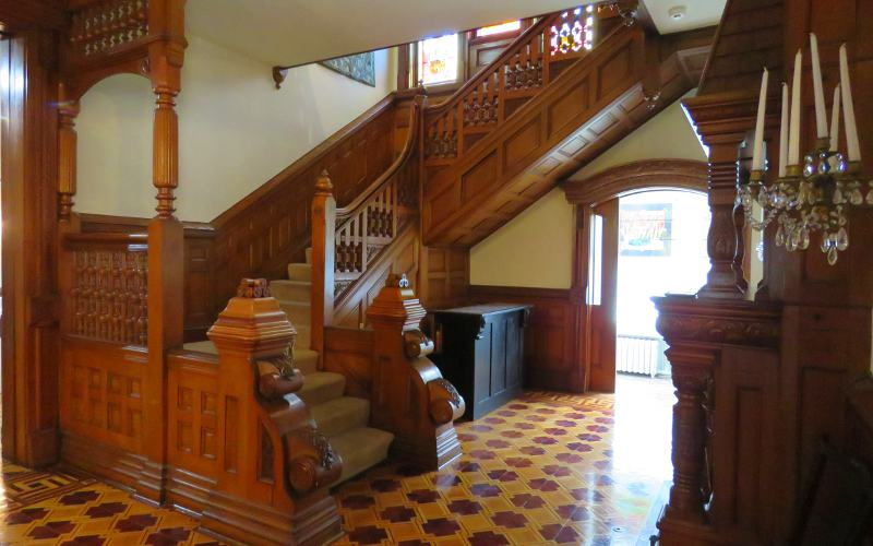ornate wooden stairs