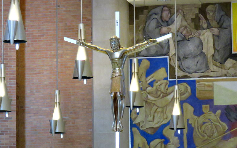 Double Crucifix in St. Benedict's Abbey Church