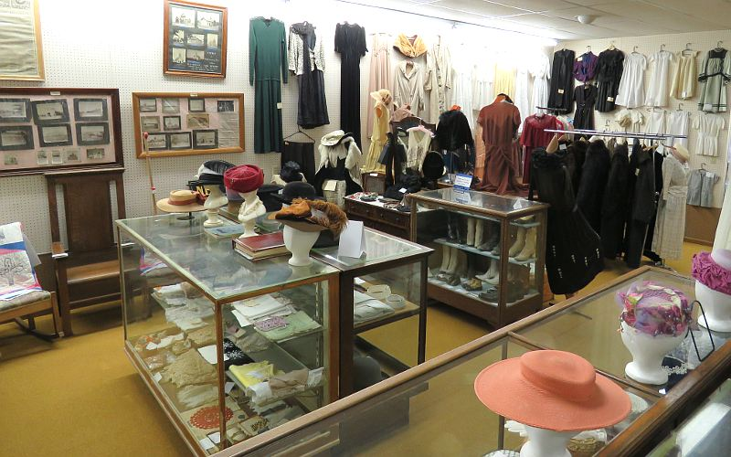 Vintage textiles in the Trego County Historical Museum