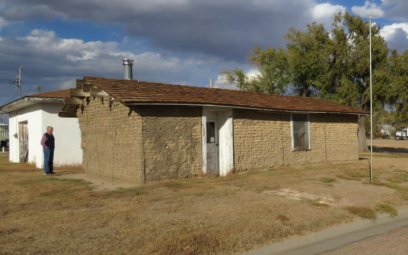 sod house - Lane County, Kansas