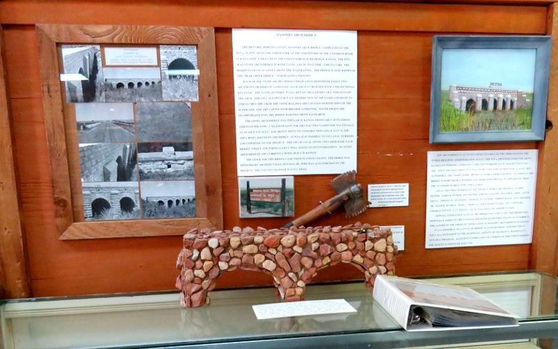 Morton County WPA Bridge museum exhibit
