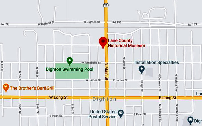 Lane County Historical Museum Map - Dighton, Kansas