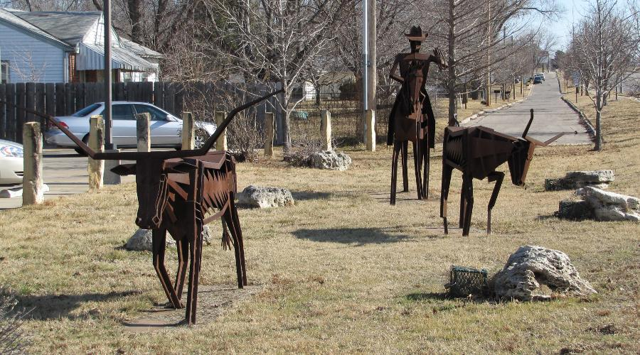 Chisholm Trail Sculpture by Frank Jensen