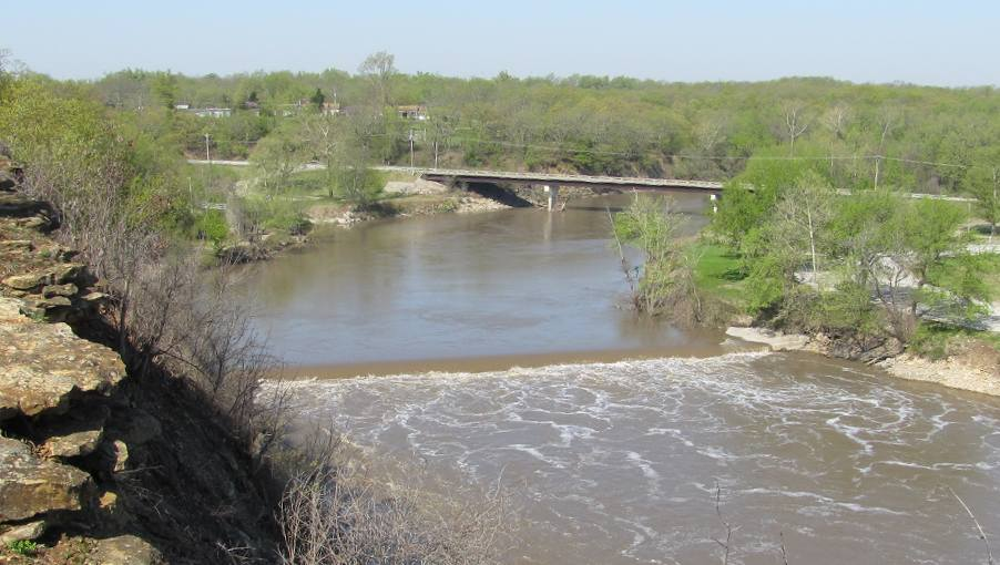 Neosho River Dam and Falls