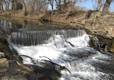 Brown's Park Waterfall - Abilene, Kansas