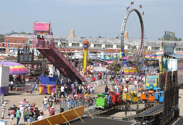 Just a portion of the rides at the Kansas State Fair.