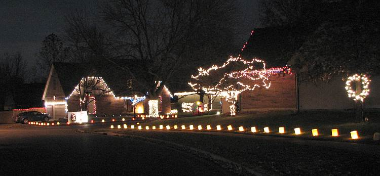 Christmas Card Lane Olathe Kansas
